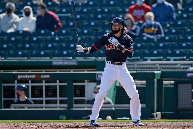 Outfielder Billy Hamilton has been told he won't make the Opening Day roster for Cleveland. [USA TODAY Network]