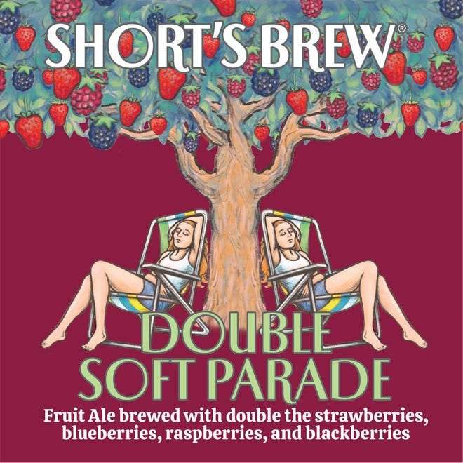 Beer label for Short's Brewing Co.'s Double Soft Parade.