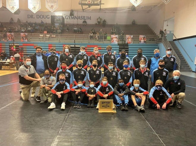 The Union County Braves won their 10th consecutive small school state duals at UCHS on Saturday.