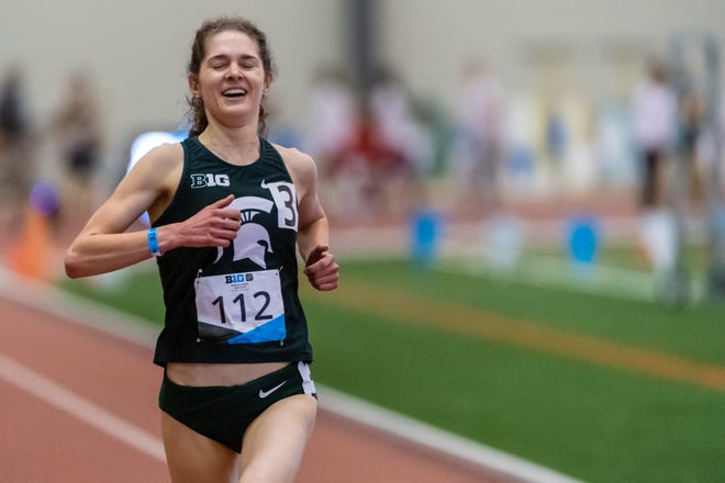 Jenna Magness, a Grand Ledge graduate, won the 5,000-meter run at the Big Ten indoor track and field championships.