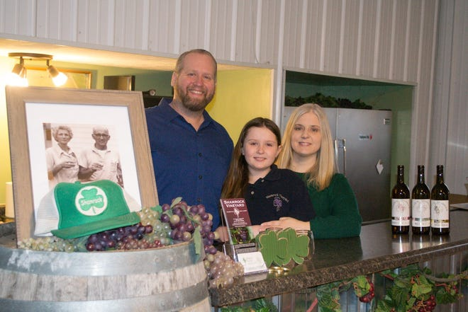 """(From left to right): Thomas """"Van"""" Creasap, daughter Quinn Creasap, and Emily Creasap. All three have special duties for Shamrock, including Quinn who finds and implements decoration ideas for the event space."""