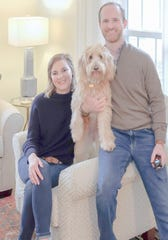 Lockie and Peyton Wade, and their canine companion, Ellie, love their new home.