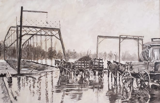 "The painting ""1913 High Street Bridge"" by Tom Heatherly"
