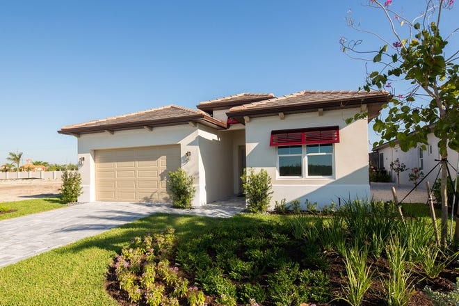 A previously completed Maravilla model at Sapphire Cove, a new residential community being developed by FL Star in South Naples.