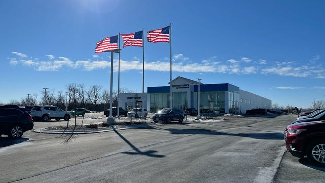 Bergstrom Automotive is expanding with the addition of a new body shop and collision center next to its location in Madison. It follows another recent expansion in Oshkosh, where the company opened a body shop and collision center along with an express.cars showroom and test driving site, pictured here on March 3, 2021.