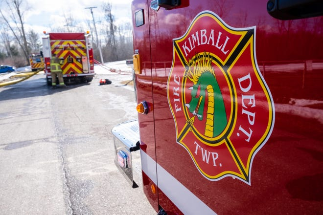 Kimball Township Fire Department and several other departments worked to extinguish around four miles of brush fire on March 23, 2021.