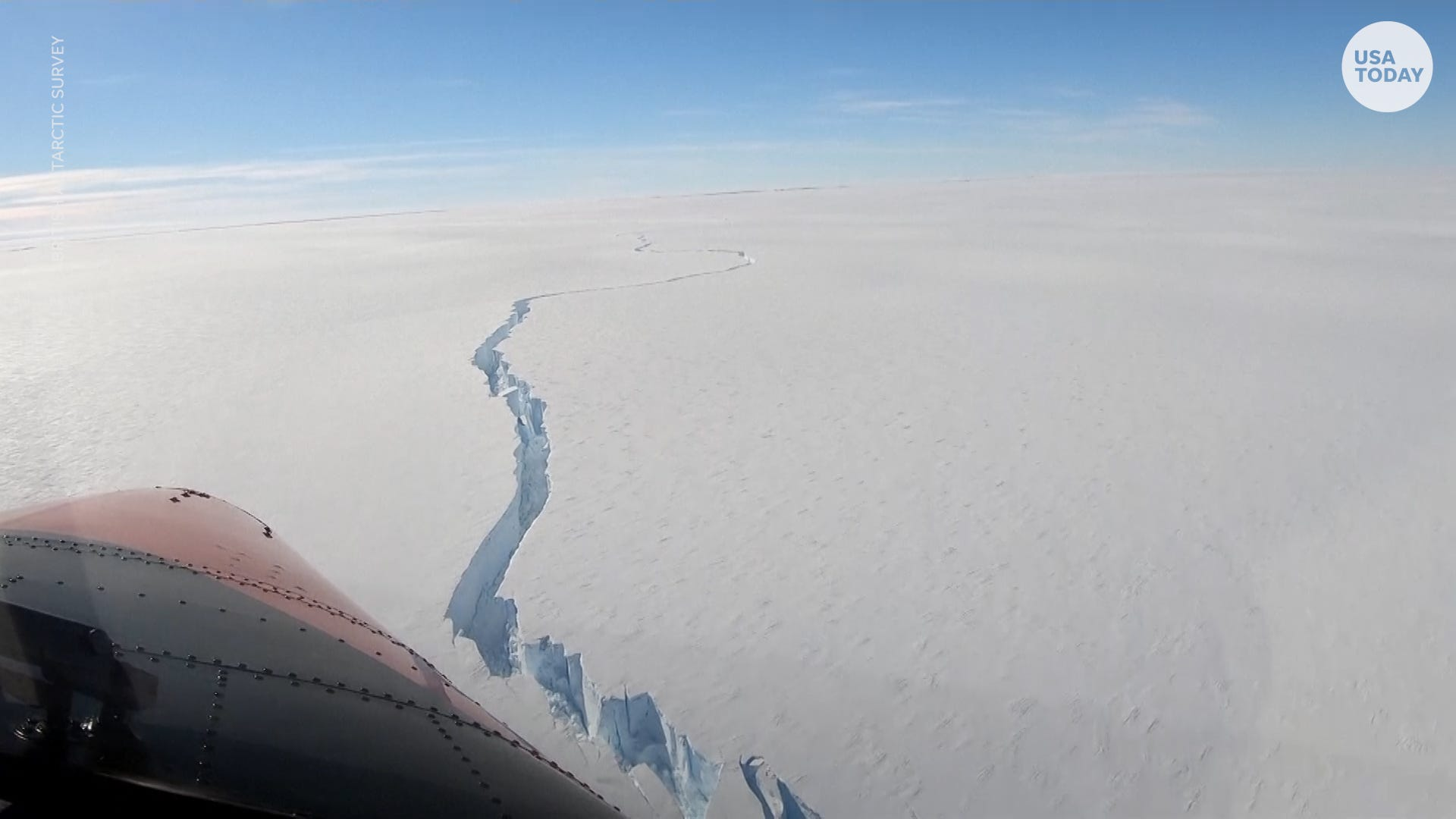 Iceberg bigger than New York City breaks off Brunt Ice Shelf