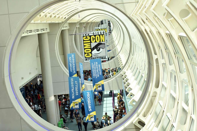 The usually bustling San Diego Convention Center will be empty again this summer as Comic-Con is going virtual again in 2021 and postponing its annual in-person event due to COVID/