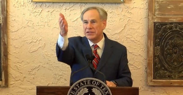 Texas Gov. Greg Abbott on Tuesday announced in Lubbock the end of state COVID-19 restrictions.