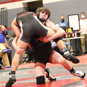 Sandy Valley's Brody Marks is one of a school-record seven Cardinals to qualify for the Division III state tournament.
