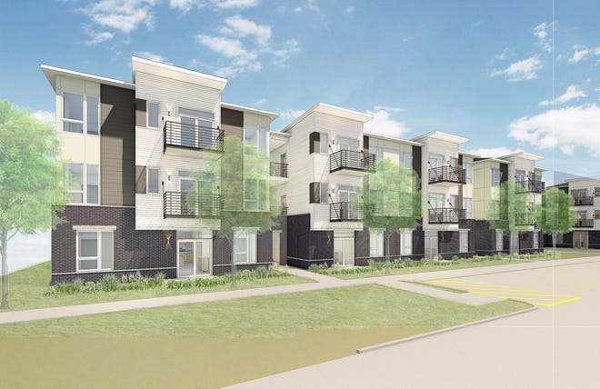 A rendering of the new Cornerstone at Marlton apartment community.