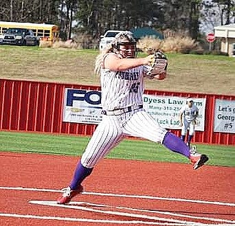 Rosepine senior Calyn Brister picked up a win in the circle for the Lady Eagles against Stanley this past weekend at the Many Tournament. Offensively, she had seven hits, including two homers, with a total of seven RBIs.