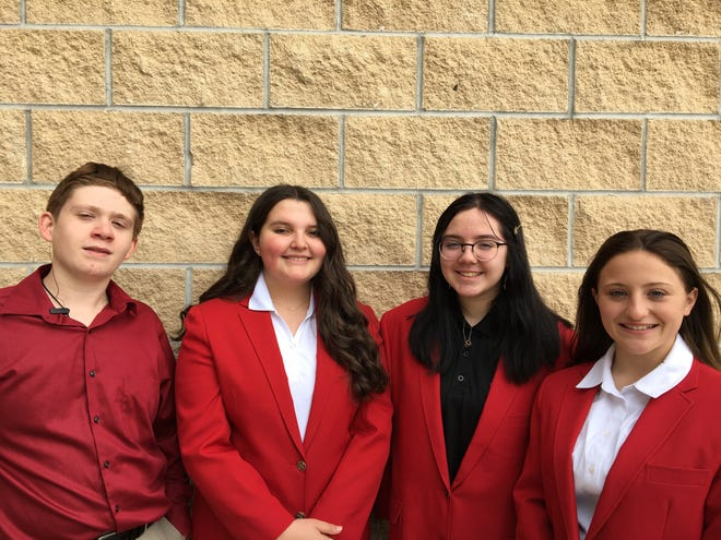 From left, Grayson Loman, Bella Helmick, Anna Nance and Kirsten Poling are pictured.