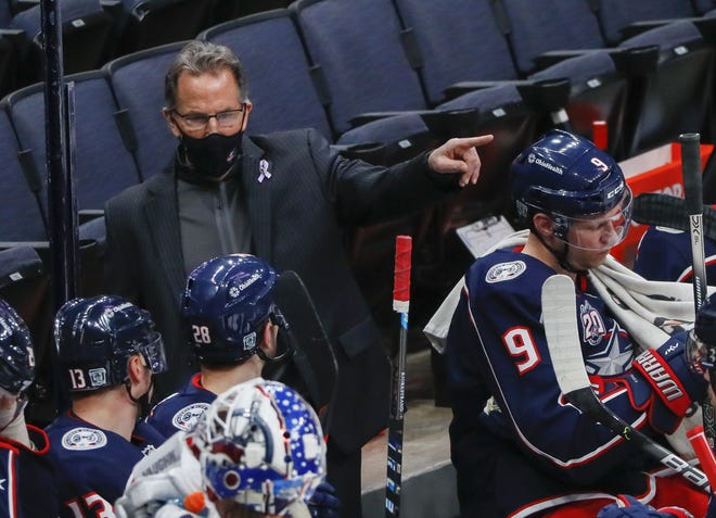 Blue Jackets coach John Tortorella directs his team during a game against the Dallas Stars at Nationwide Arena on Feb. 4. The Jackets have lost five consecutive games.