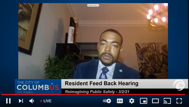 """Columbus City Council President Shannon Hardin led the latest """"Reimagining Public Safety"""" virtual town hall on Tuesday evening."""