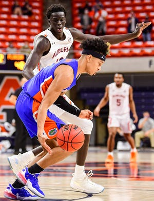 Florida sophomore guard Tre Mann averaged 20 points, 10.5 rebounds, 2 assists and 1.5 steals in wins at Auburn and at Kentucky last week.