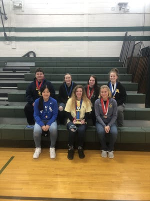 The West Carroll ACES team participated in the regional competition hosted by Highland Community College on Feb. 1. Back, from left: Chase Bentley, Erika Rice, Natalie Limestand and Lauryn Holley. Front, from left: Hannah Bauch, Maddie Dauphin and Olivia Charles.