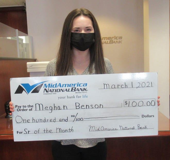 Meghan Benson  has been named February Senior of the Month