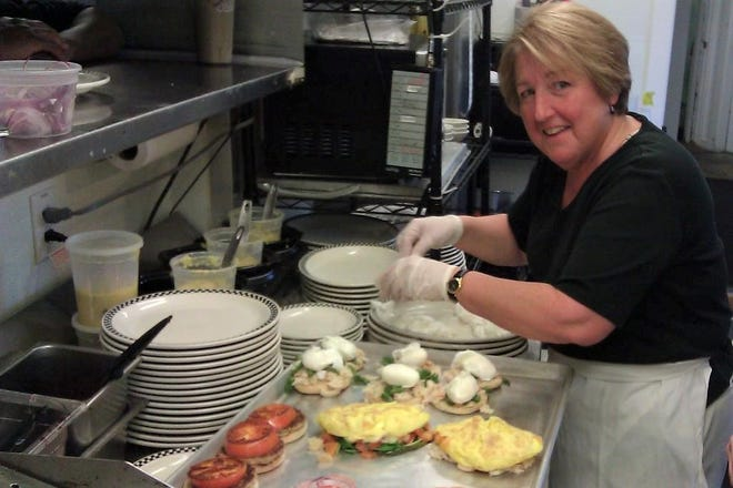 Leanne Cusimano in the kitchen some years back at Amore Breakfast in Ogunquit, Maine. Amid pressures from the pandemic, the restaurant has closed its doors after more than 25 years.