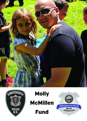 The Molly McMillen Fund is calling upon locals to make donations that will aid 9-year-old Molly McMillen, daughter of Portsmouth Police Officer Alex McMillen, as she recovers from unknown injuries sustained in a house fire last week.