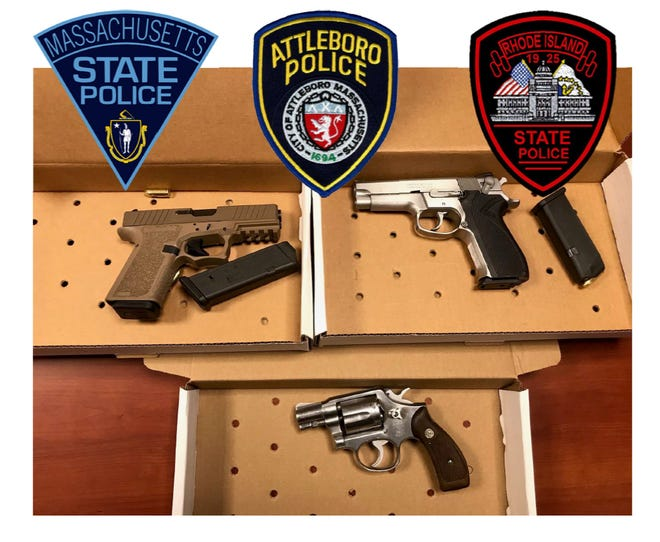 Evidence the police collected from the Central Falls apartment where a man was arrested in connection with a shooting incident in Attleboro.