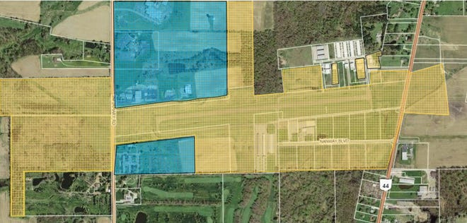 This map, provided by the Portage County Commissioners Office, shows the Portage County Airport.