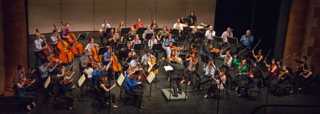 Music Director Jeffrey Kahane conducts a concert during the 2018 Sarasota Music Festival with fellows and faculty members. For the second year in a row, the Sarasota Orchestra cancelled the June festival because of safety concerns caused by the coronavirus pandemic.