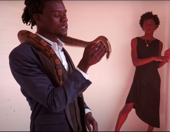 """A still from the music video """"Run Away,"""" by Ralph Weah."""