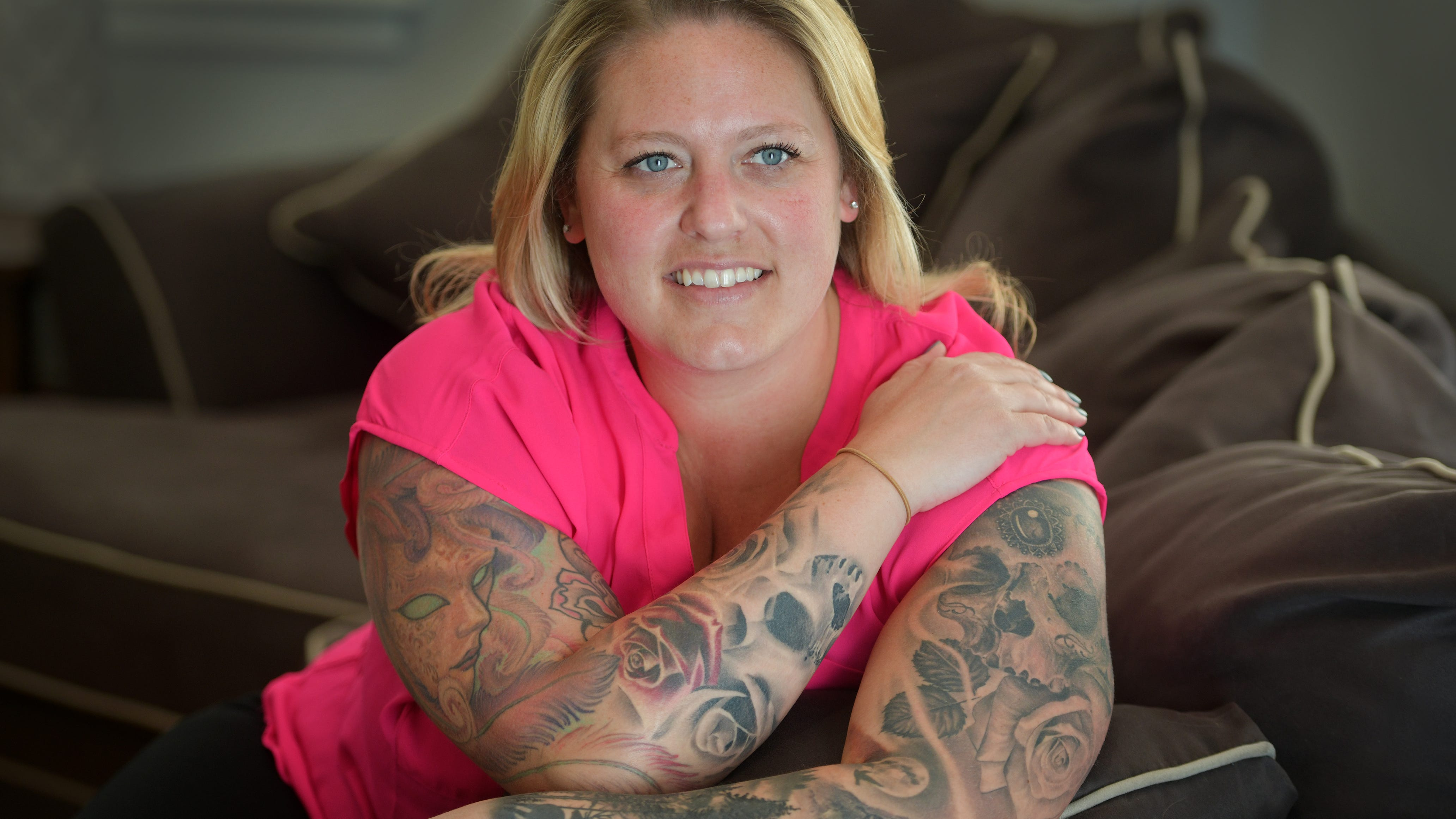 Vying for top marks as tattoo magazine cover girl
