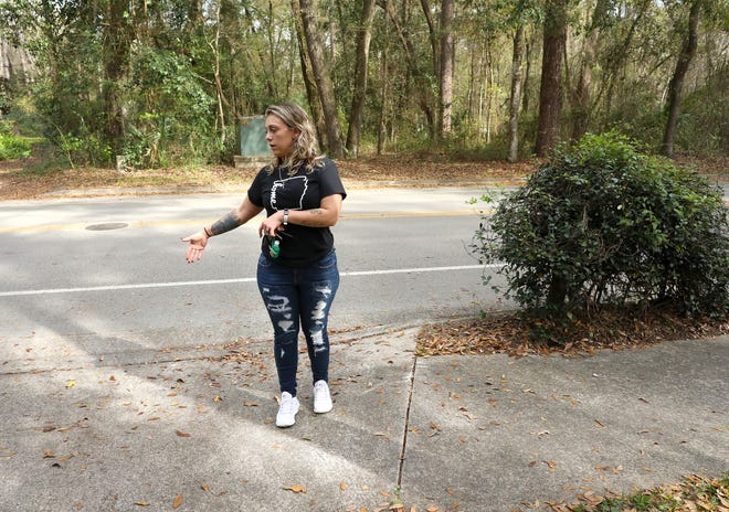 Nicky Villardefrancos talks about the accident last week when her son Nathaniel, 8, and his brother Lucas, 10, were hit by a car on their way to school Feb. 25, off Northwest 38th Street near Littlewood Elementary School in Gainesville.