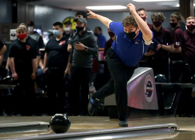 "Ready senior Luke Jahn tied for 59th with a 498 three-game series in the Division II state tournament Feb. 27 at Wayne Webb's Columbus Bowl. He called it ""really humbling and a really good lesson going forward."""