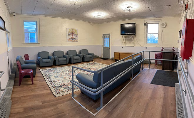 A common area inside the Middlesex Sheriff's Office new women's pre-release center will be used for family visits, meetings and other activities.