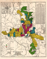 This map shows the Asheville urban renewal plan.