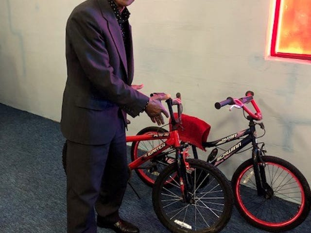 Bobby Holley is beginning a drive to raise money for children's bicycles.