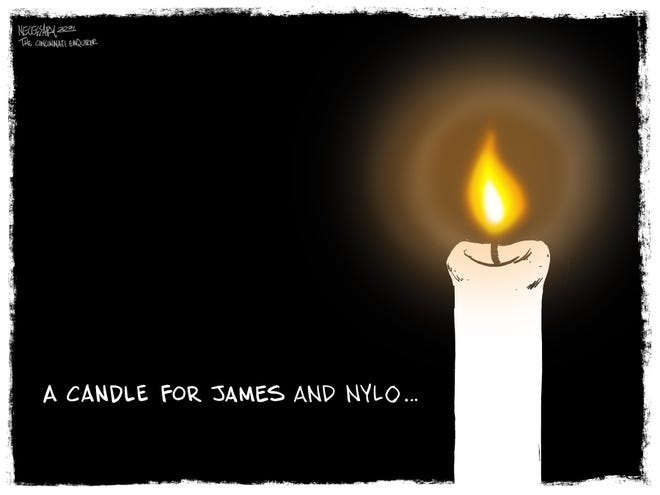 A candle for James Hutchinson and Nylo Lattimore