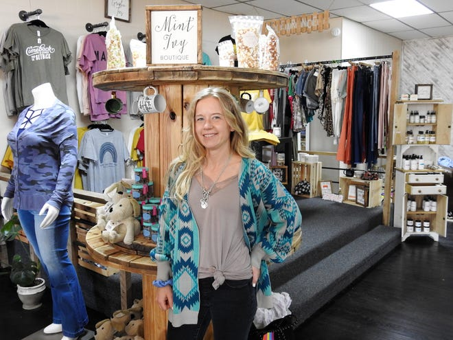 West Lafayette native Kayla Miller is a teacher at Ridgewood Local Schools and the owner of Mint Ivy Boutique, which features a wide selection of clothes and other items.
