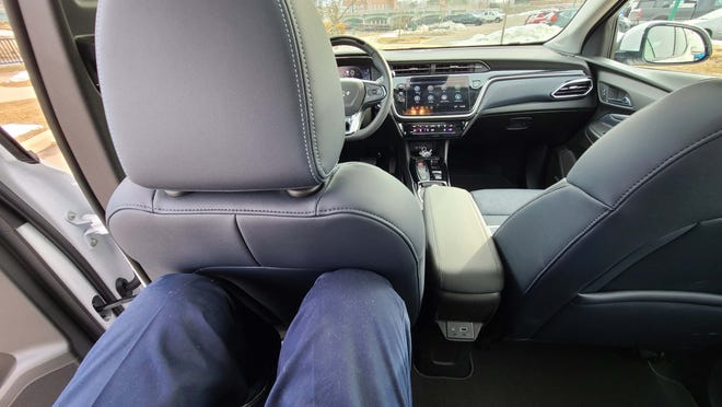 "With the three more inches of rear seat room than the Bolt EV, the 2022 Chevy Bolt EUV fits 6'5"" Detroit New auto reviewer Henry Payne nicely."