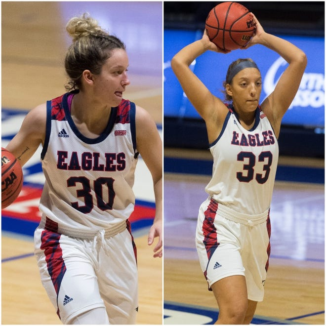 USI women's basketball players Emma DeHart and Hannah Haithcock were both selected to the All-GLVC conference teams.