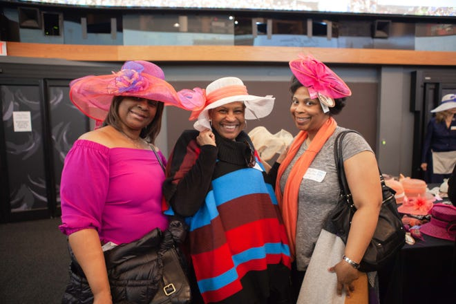 Big Brims and Fancy Trims is a popular annual sample hat sale that takes place each year at the Kentucky Derby Museum.  No hat is more than $75. In 2021 the sale is April 8.