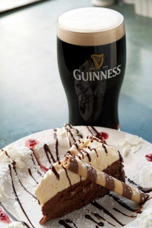 Guinness Cheesecake is shown at County Clare restaurant on Milwaukee's lower east side.