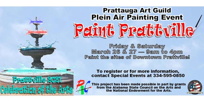 Artists are invited to come paint Prattville on March 26 and 27.