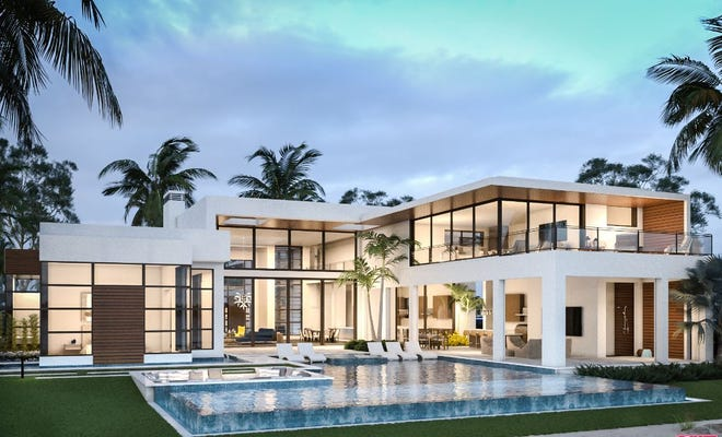 Walls of glass, clean lines and open interior spaces are a few of the qualities Gulfshore Homes incorporates in its homes featuring modern architecture.