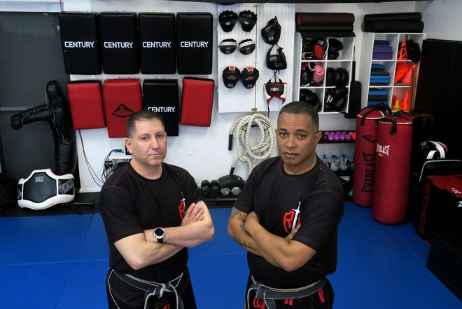 Affinity Martial Arts co-owners Jon Crow (right) and Mike Rifkin are shown in the Toms River studio Tuesday, March 2, 2021.