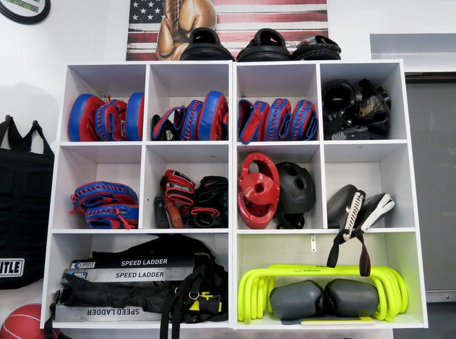 Some of the gear inside the Affinity Martial Arts Toms River studio Tuesday, March 2, 2021.