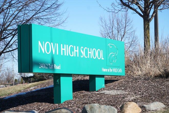 Novi High School's Taft Road entrance.