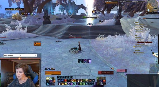 A screenshot of WowGrandma78 playing World of Warcraft on Twitch.