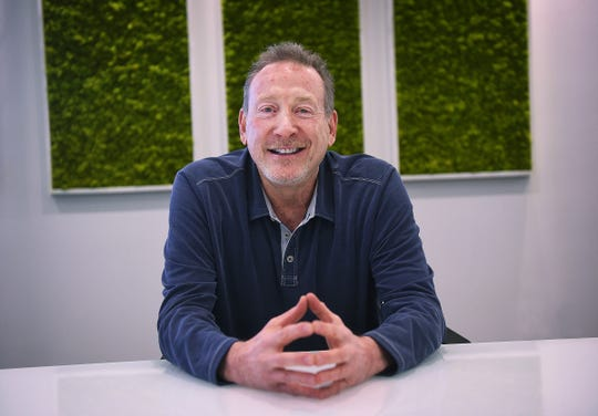 Jeffrey Berns, founder and CEO of Blockchains, poses for a portrait at their corporate headquarters east of Reno on March 2, 2021.