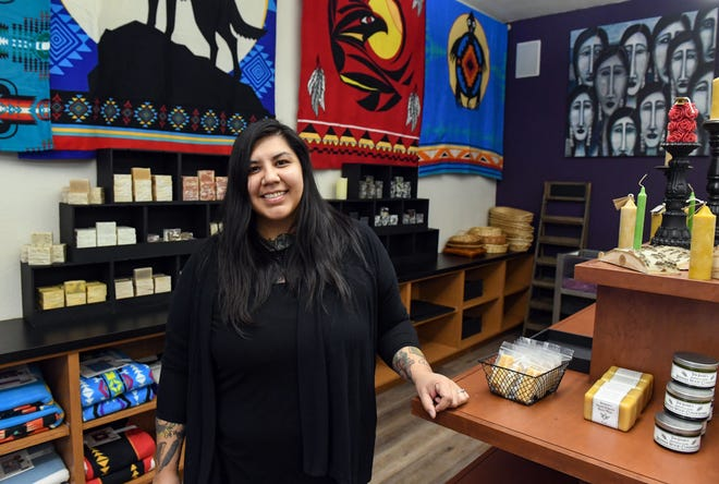 Owner Miranda Koltze stands in Sweetgrass Soapery on Tuesday, March 2, 2021, on Main Ave. in Sioux Falls.