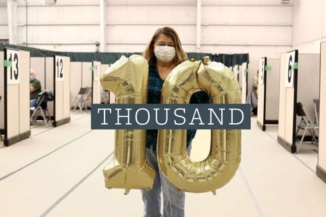 Ten thousand people fully vaccinated by Augusta Health as of March 2, 2021.