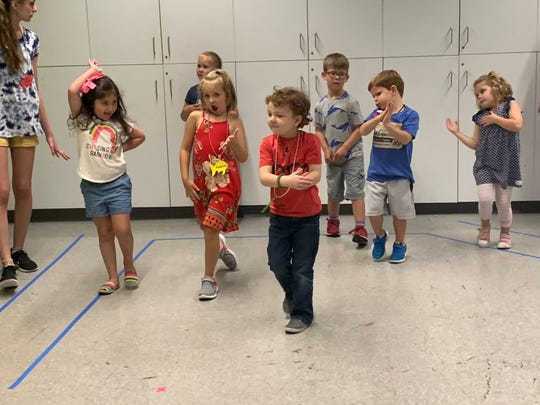 Children participate in the Spartanburg Youth Theatre day camp.